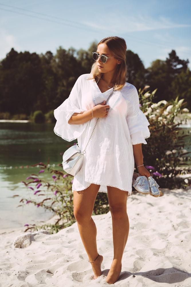 online store 23041 9f6e6 Fashion: Weiße Tunika mit Volant-Ärmeln - 12mal12