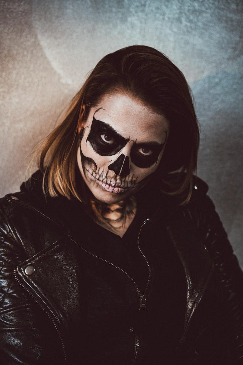 zähne skelett schminken
