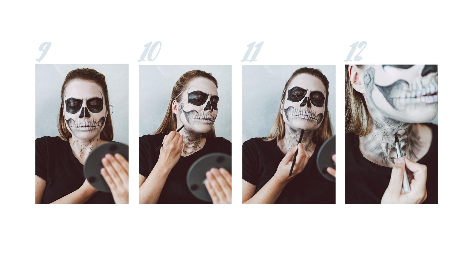 gesicht skelett malen